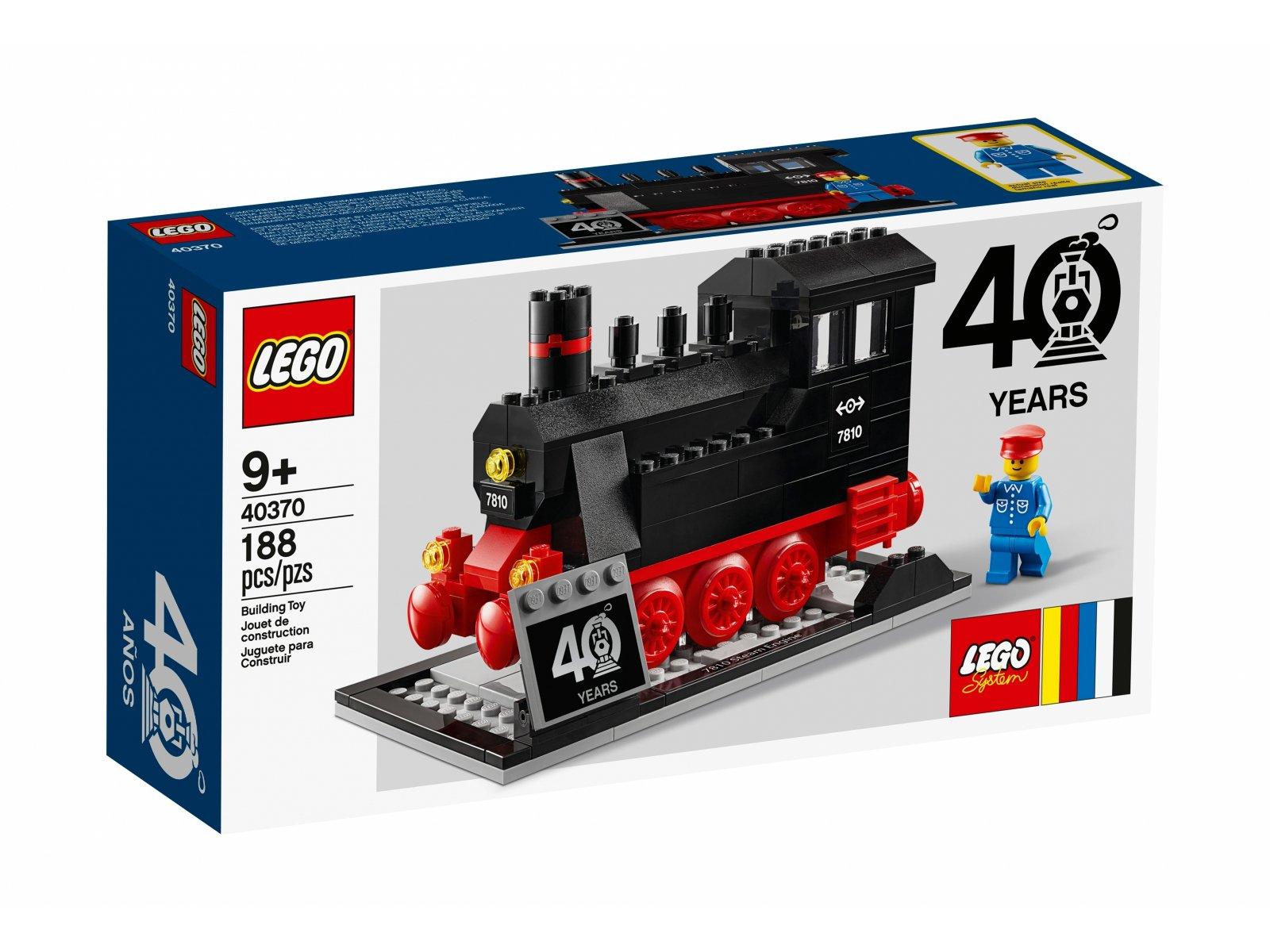 LEGO 40370 Zestaw z okazji 40-lecia projektu Pociągi LEGO®