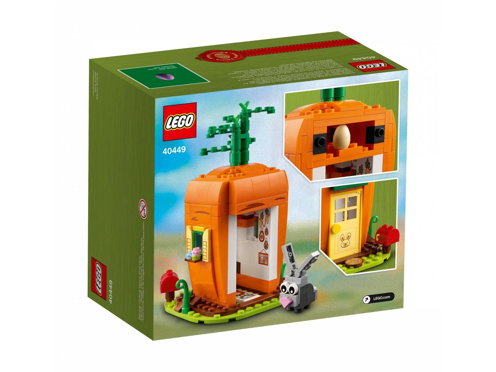 LEGO 40449 Marchewkowy domek zajączka wielkanocnego