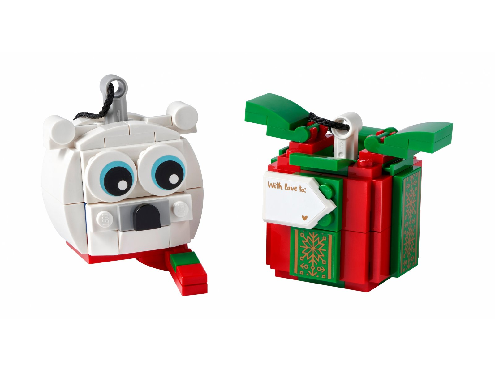 LEGO 40494 Niedźwiedź polarny i pudełko z prezentem