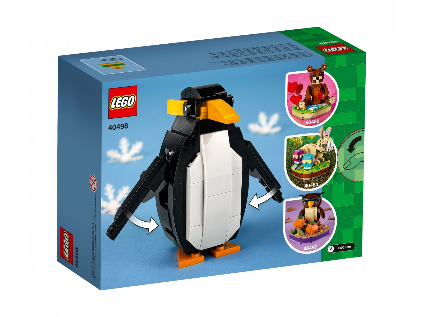 LEGO Bożonarodzeniowy pingwin 40498