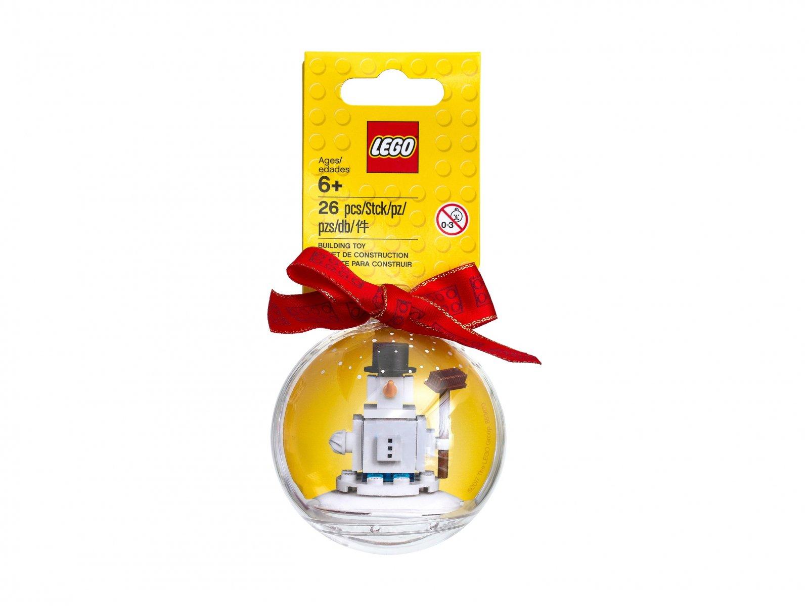 LEGO Kultowa świąteczna ozdoba z bałwanem