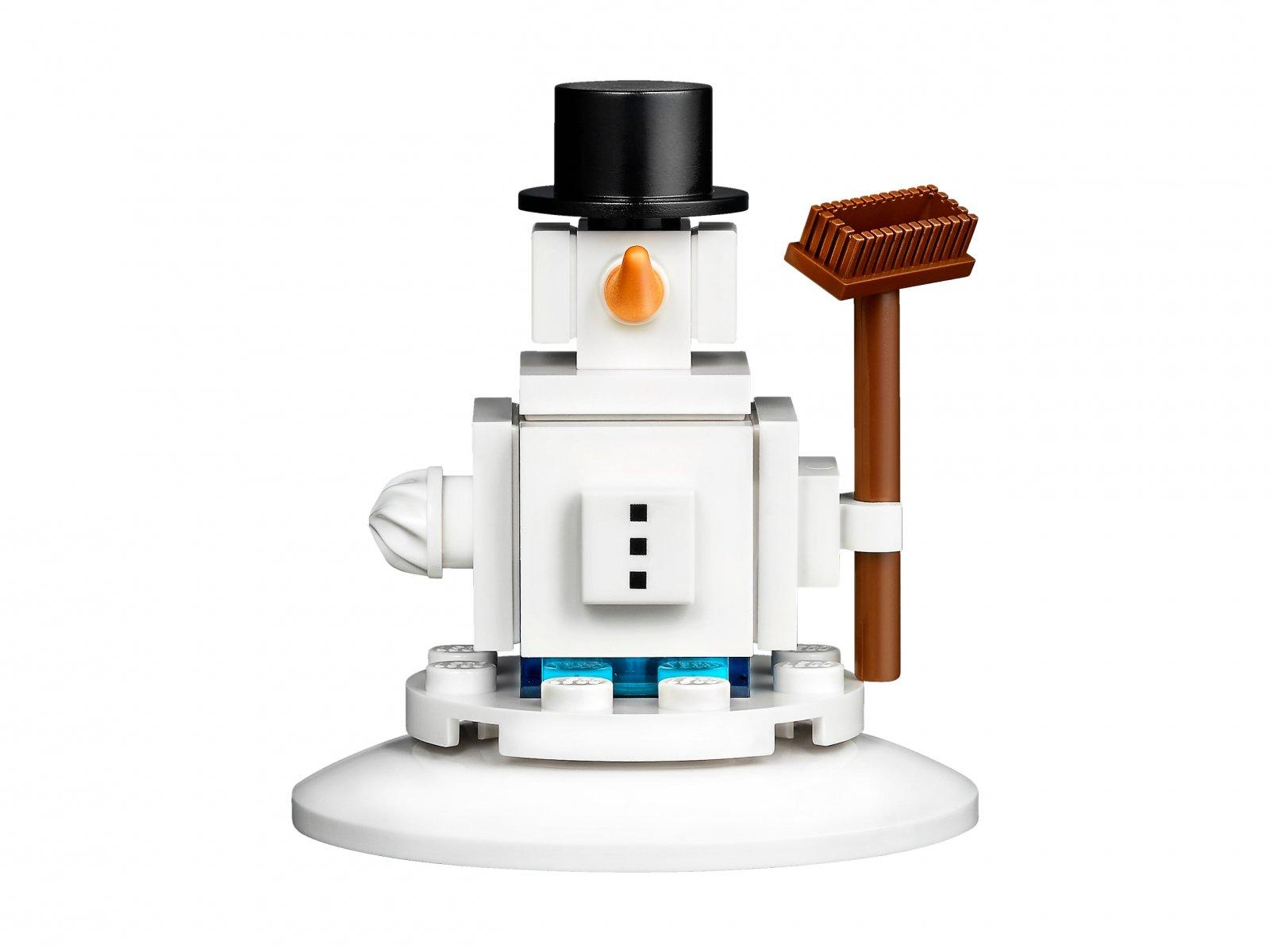 LEGO Kultowa świąteczna ozdoba z bałwanem 853670