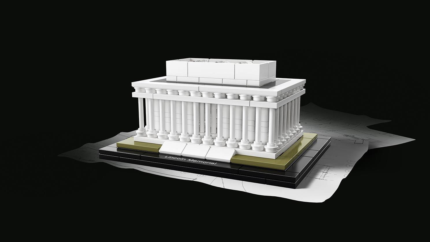LEGO 21022 Architecture Mauzoleum Lincolna