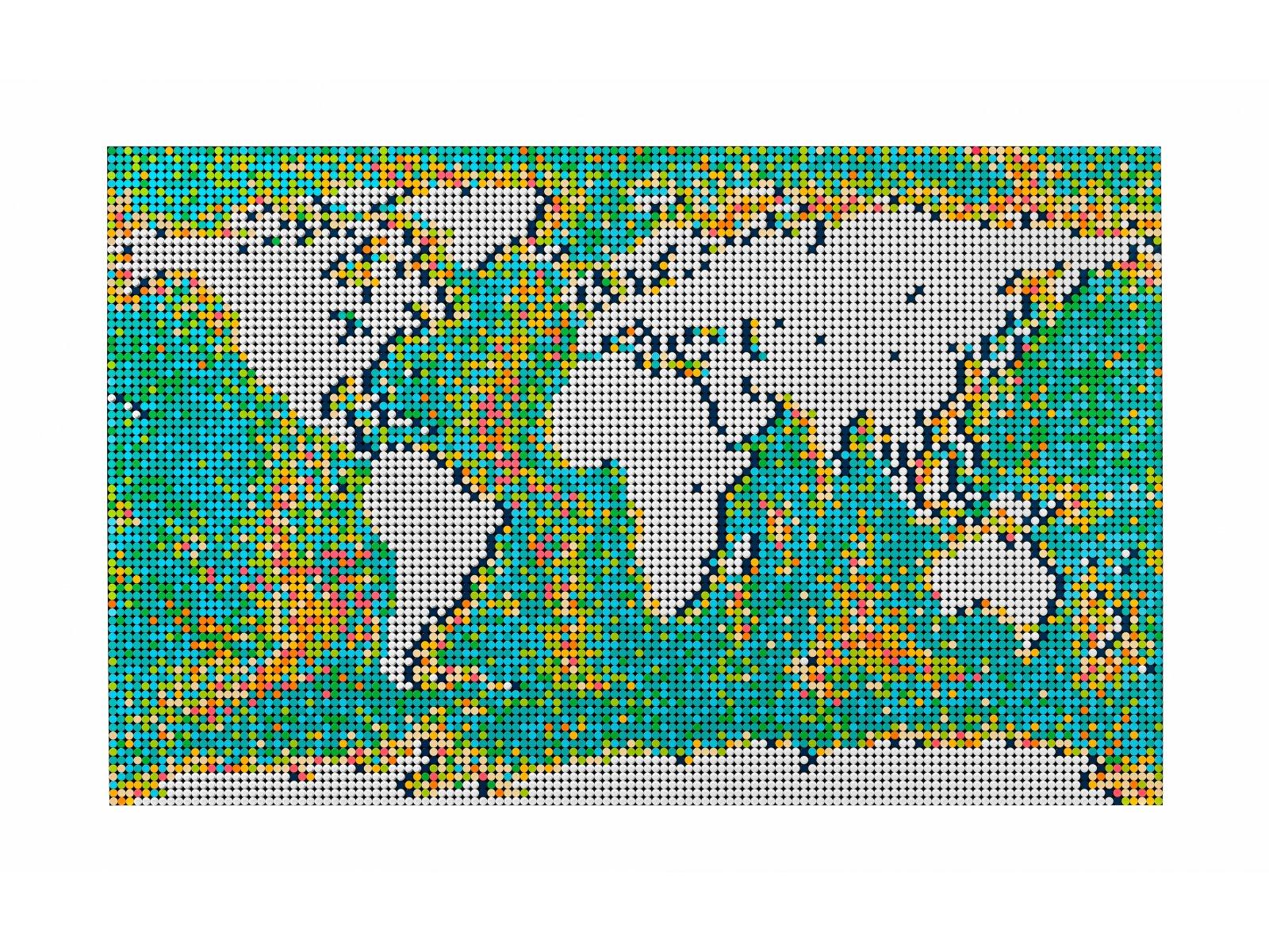 LEGO Art 31203 Mapa świata