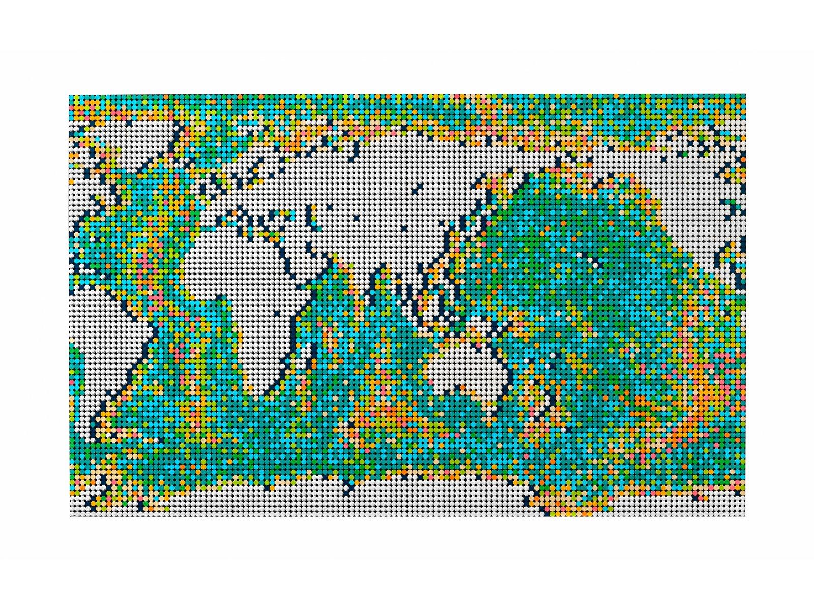 LEGO 31203 Art Mapa świata