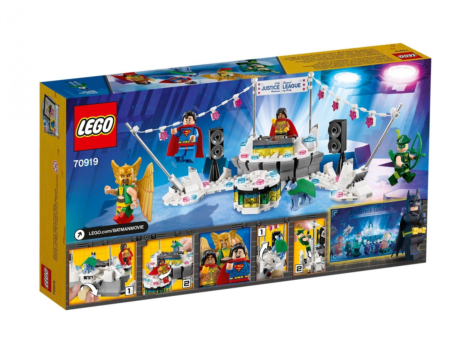 LEGO Batman Movie Impreza jubileuszowa Ligi Sprawiedliwości