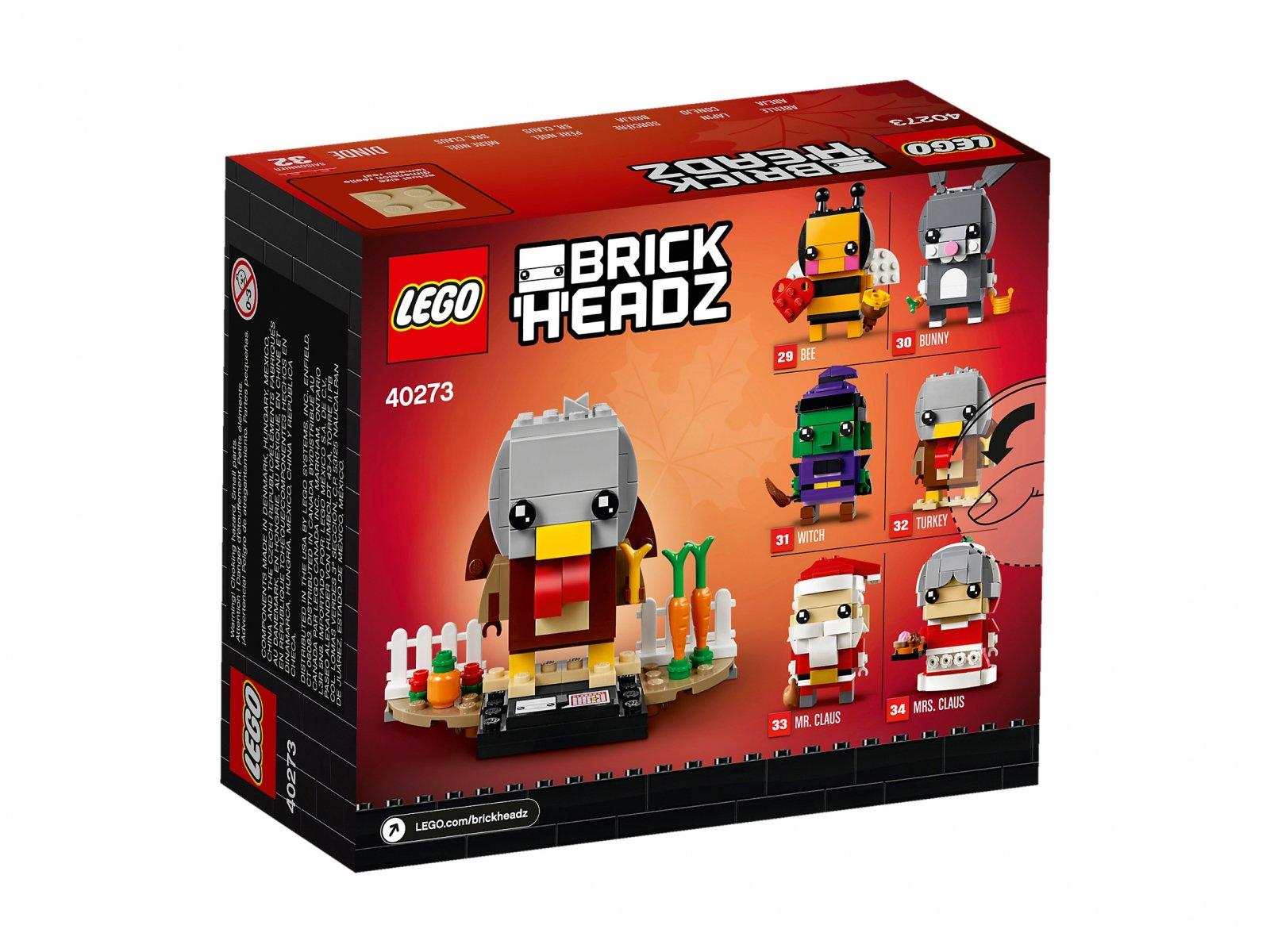 LEGO BrickHeadz 40273 Indyk na Święto Dziękczynienia