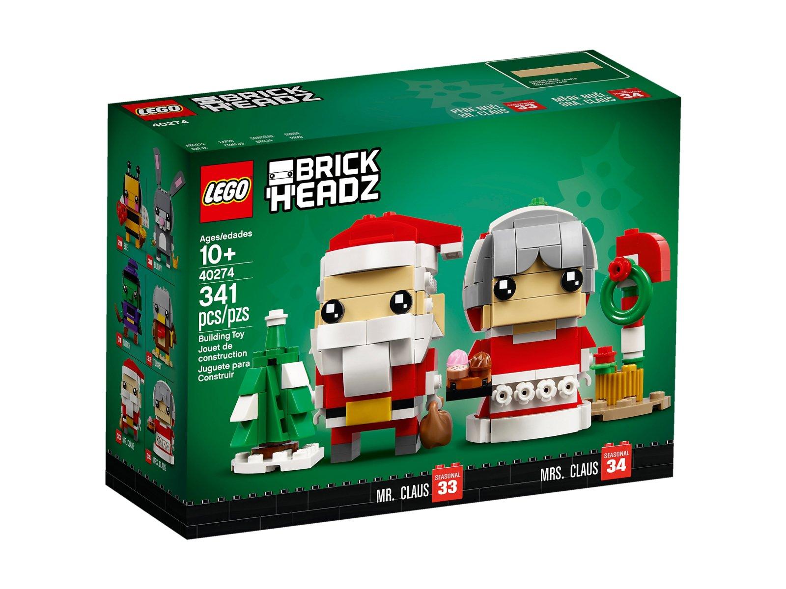 LEGO BrickHeadz 40274 Święty Mikołaj i Pani Mikołajowa