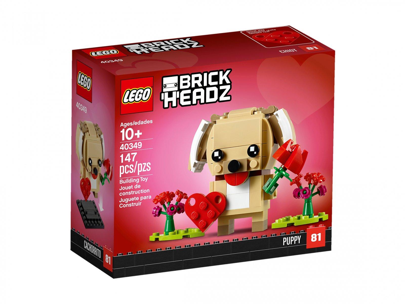 LEGO BrickHeadz 40349 Walentynkowy szczeniaczek