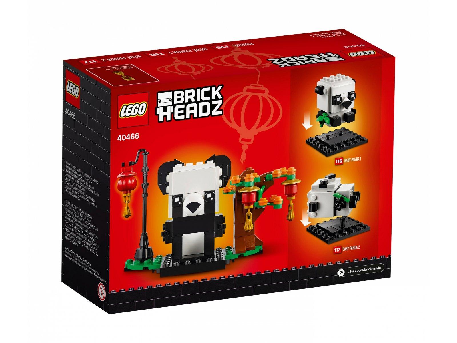 LEGO BrickHeadz 40466 Pandy na Chiński Nowy Rok