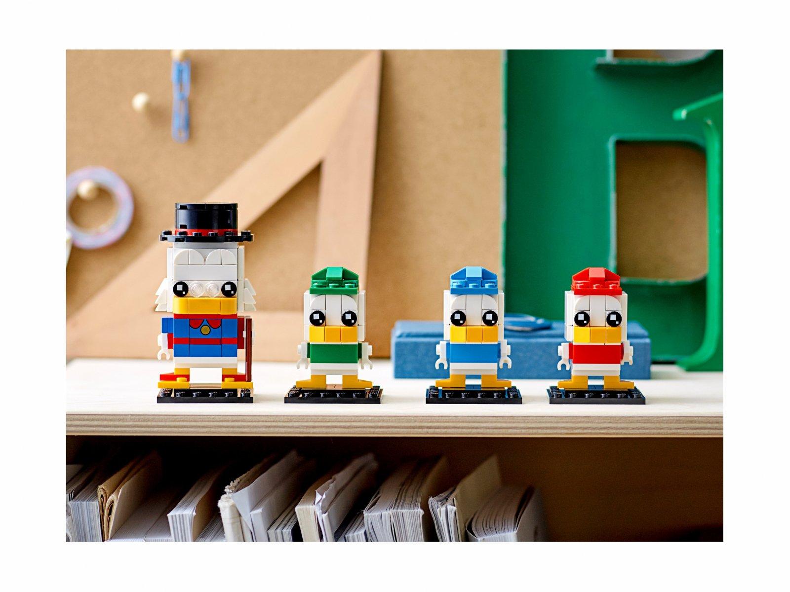 LEGO BrickHeadz 40477 Sknerus McKwacz, Hyzio, Dyzio i Zyzio