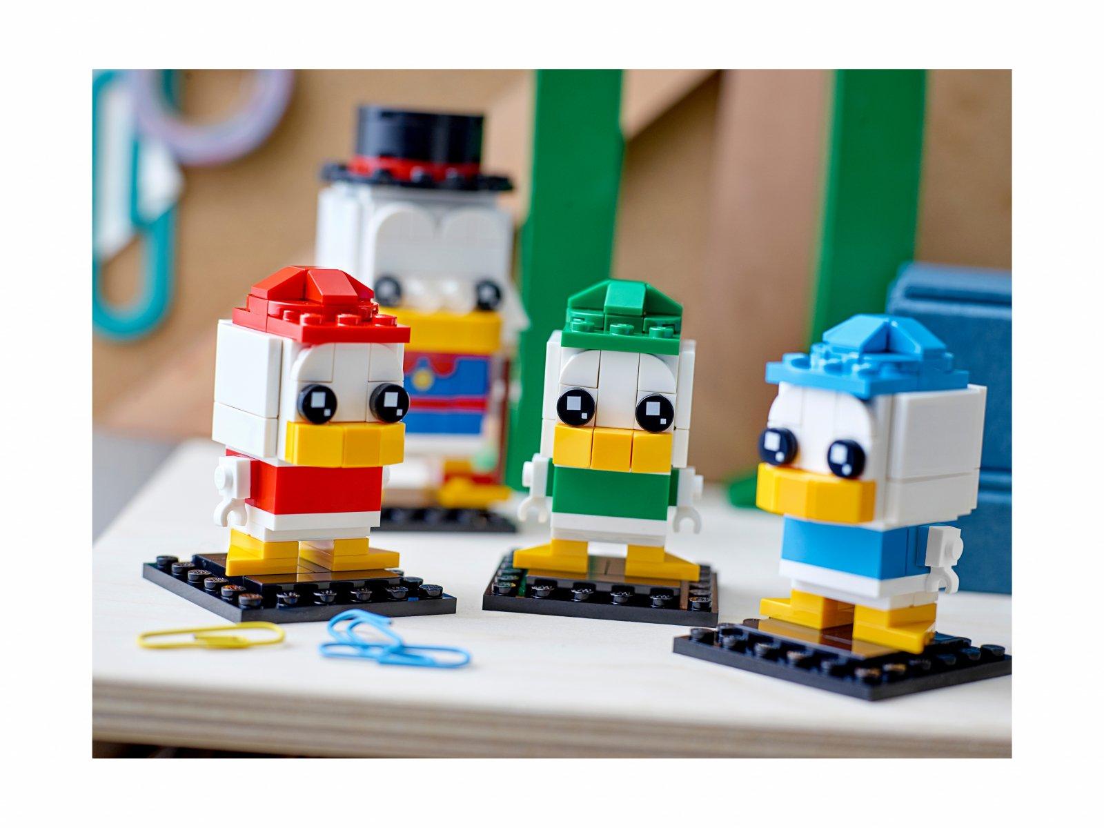 LEGO 40477 BrickHeadz Sknerus McKwacz, Hyzio, Dyzio i Zyzio