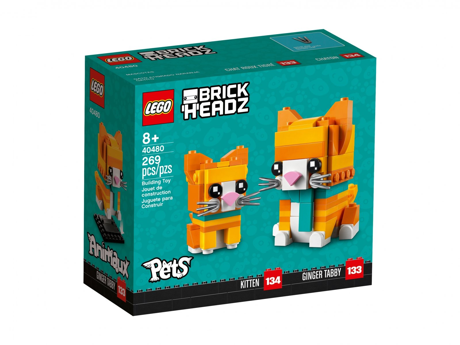 LEGO 40480 BrickHeadz Pręgowany rudy kot