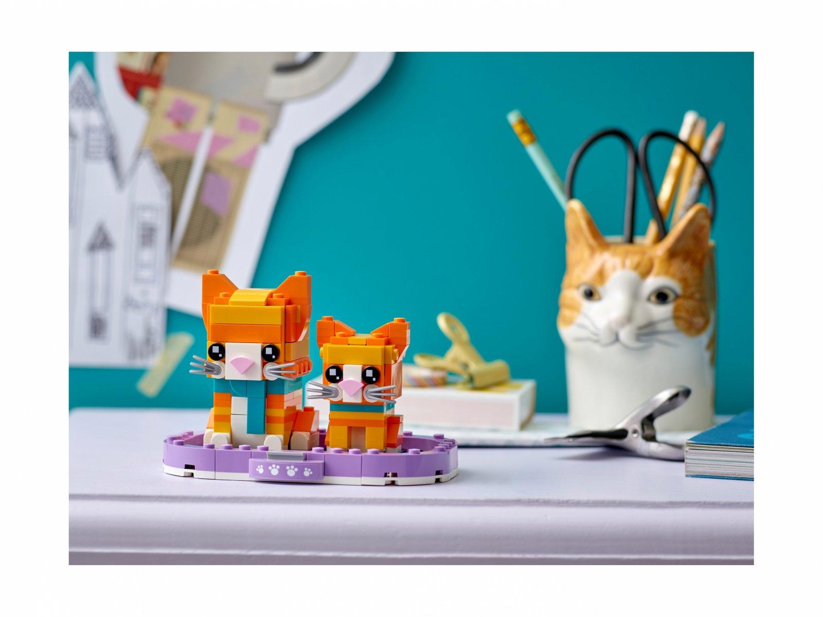 LEGO BrickHeadz Pręgowany rudy kot 40480