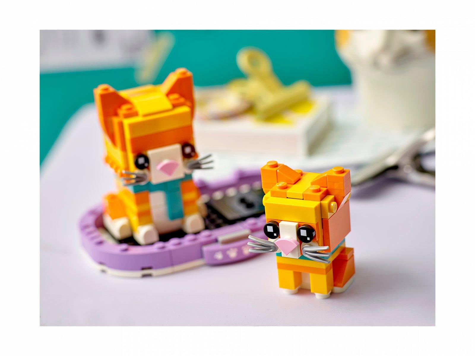 LEGO BrickHeadz 40480 Pręgowany rudy kot