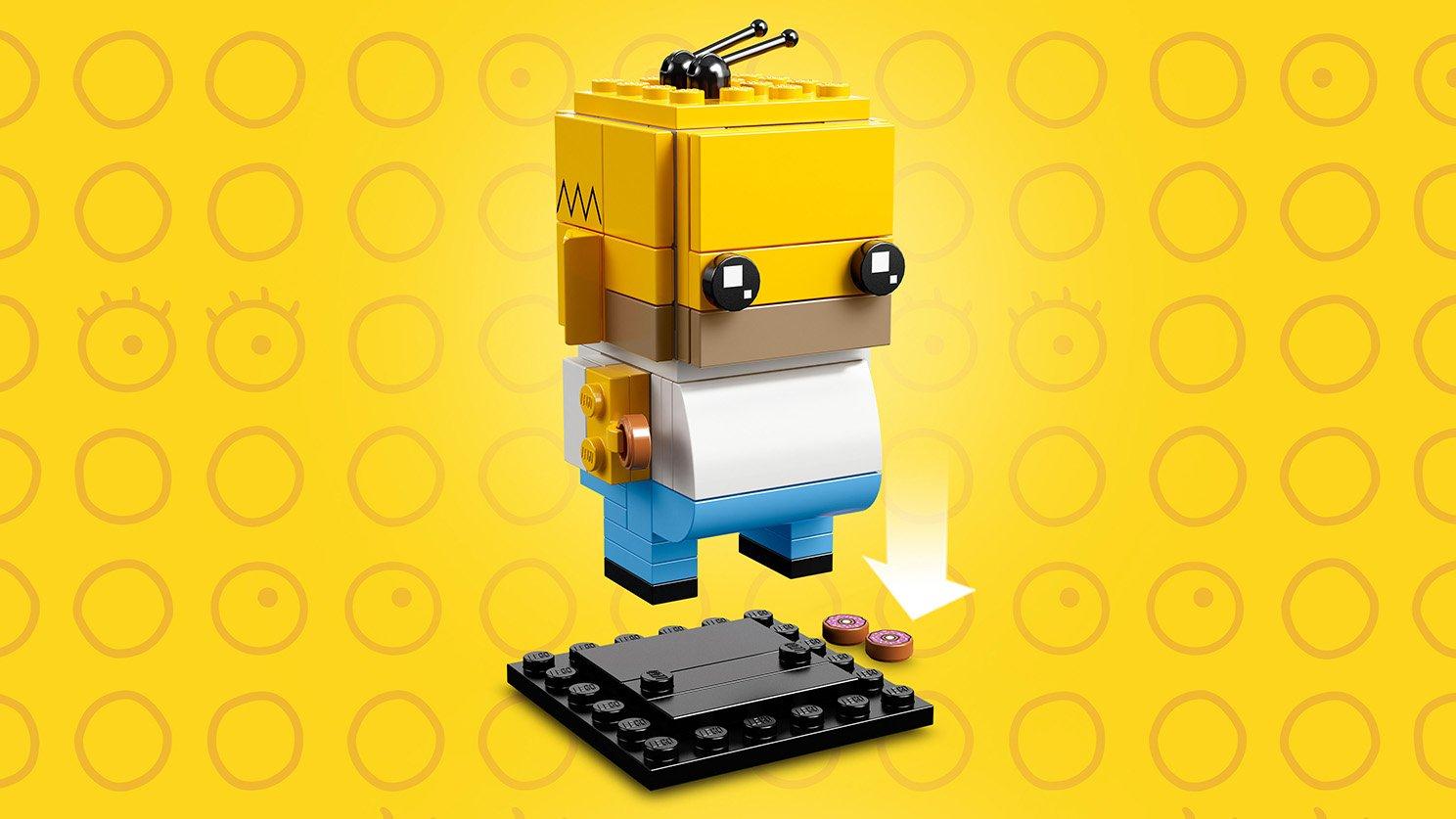 LEGO BrickHeadz Homer Simpson i Klaun Krusty