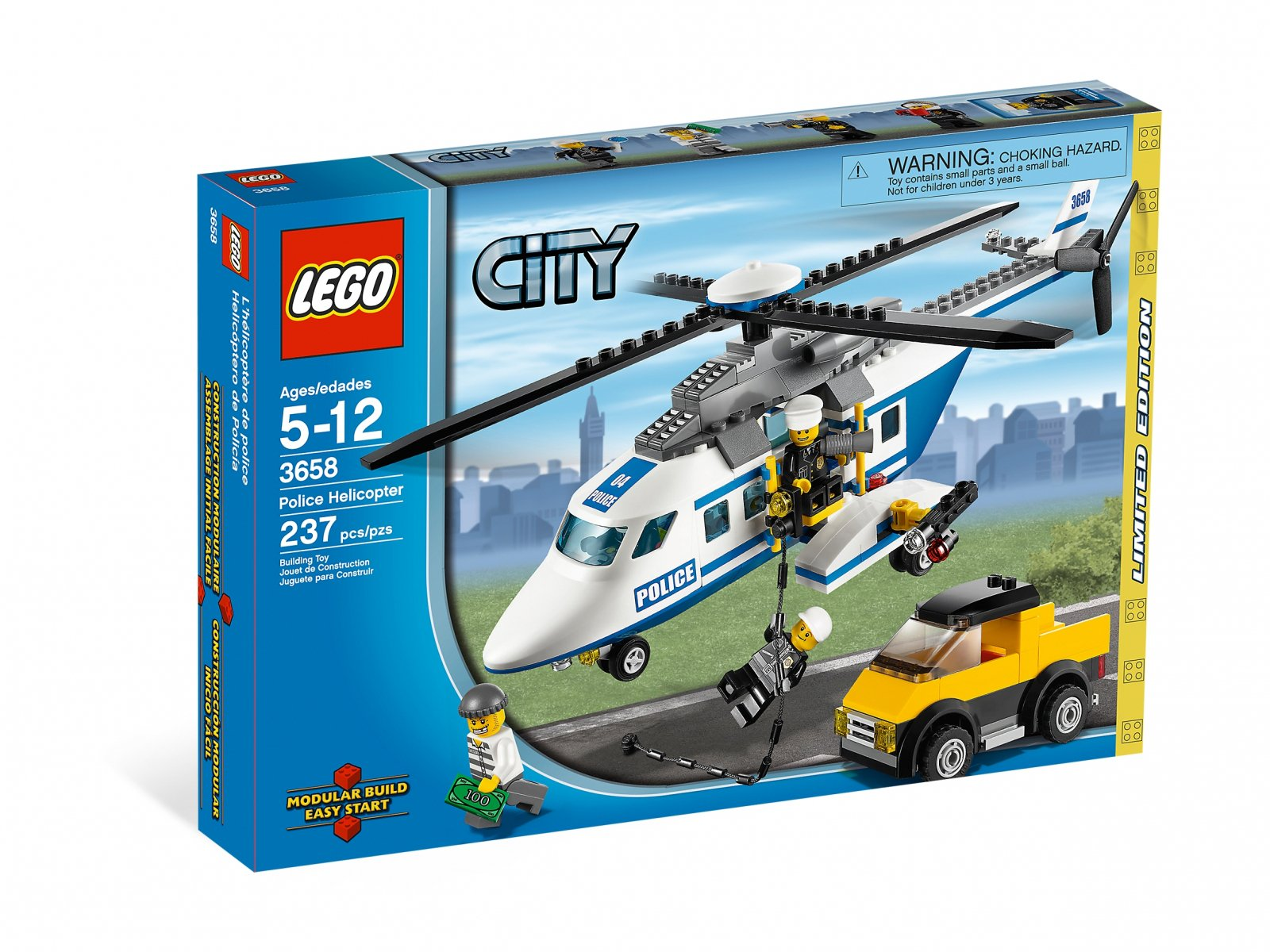 LEGO City Police Helicopter 3658