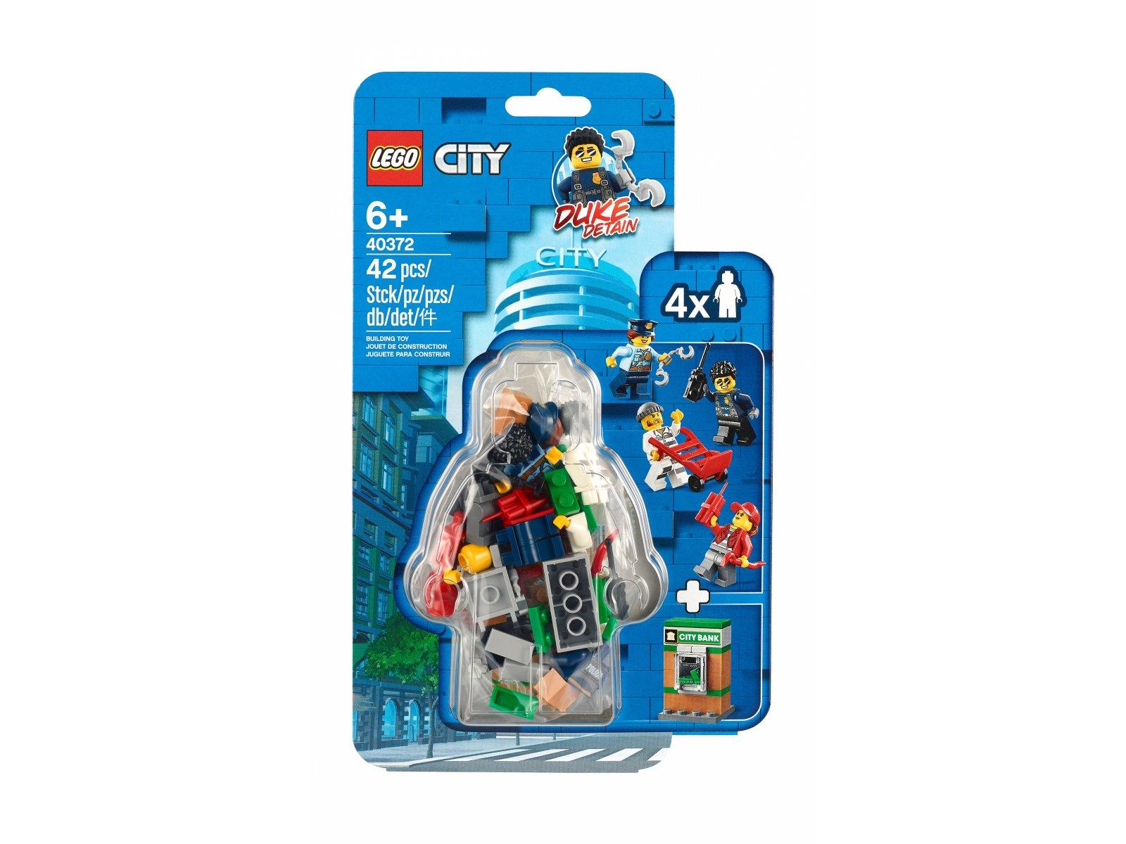 LEGO City Zestaw akcesoriów i minifigurek policyjnych 40372