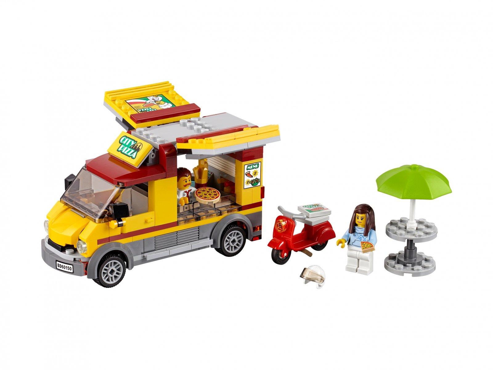 LEGO 60150 City Foodtruck z pizzą