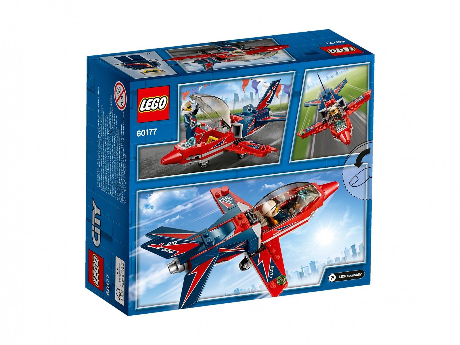 LEGO City 60177 Odrzutowiec pokazowy