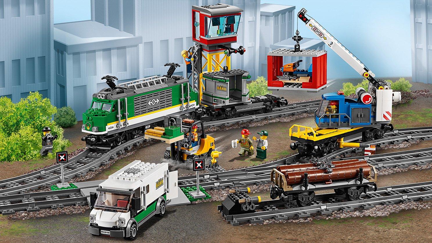 Lego 60198 City Pociąg Towarowy Zklockówpl
