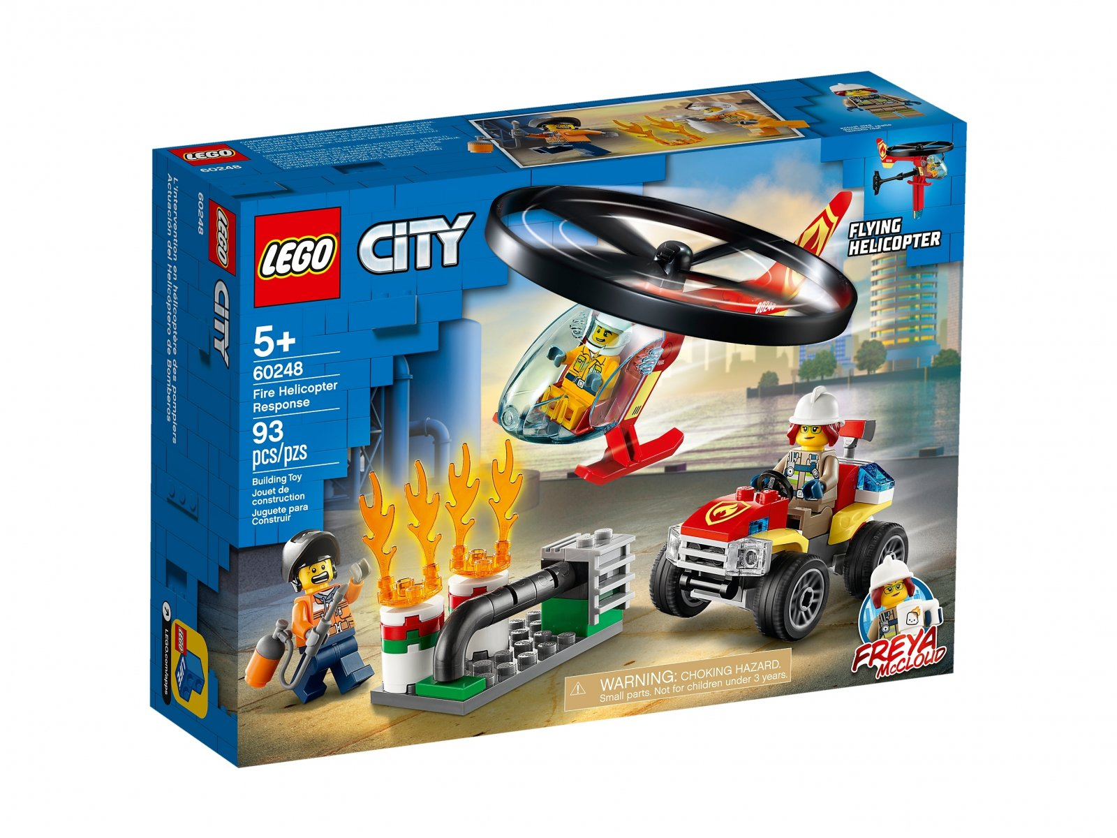 LEGO City Helikopter strażacki leci na ratunek 60248