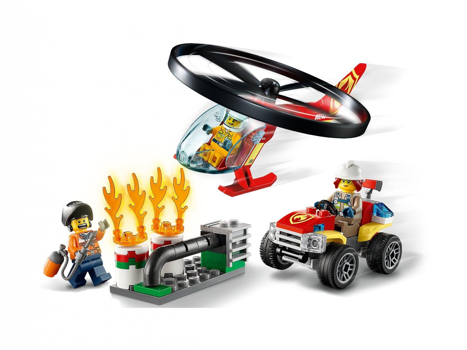 LEGO 60248 Helikopter strażacki leci na ratunek
