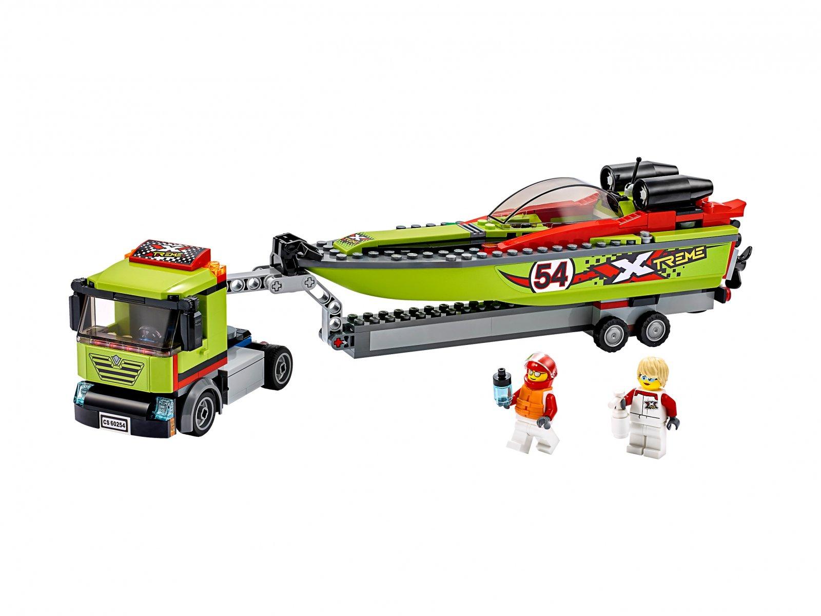 LEGO 60254 City Transporter łodzi wyścigowej