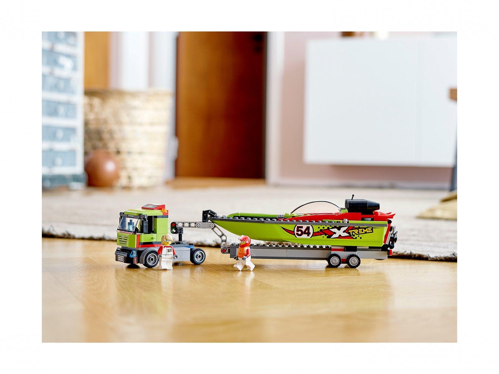 LEGO City Transporter łodzi wyścigowej 60254