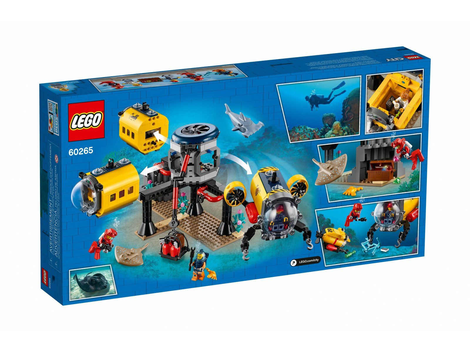 LEGO 60265 City Baza badaczy oceanu