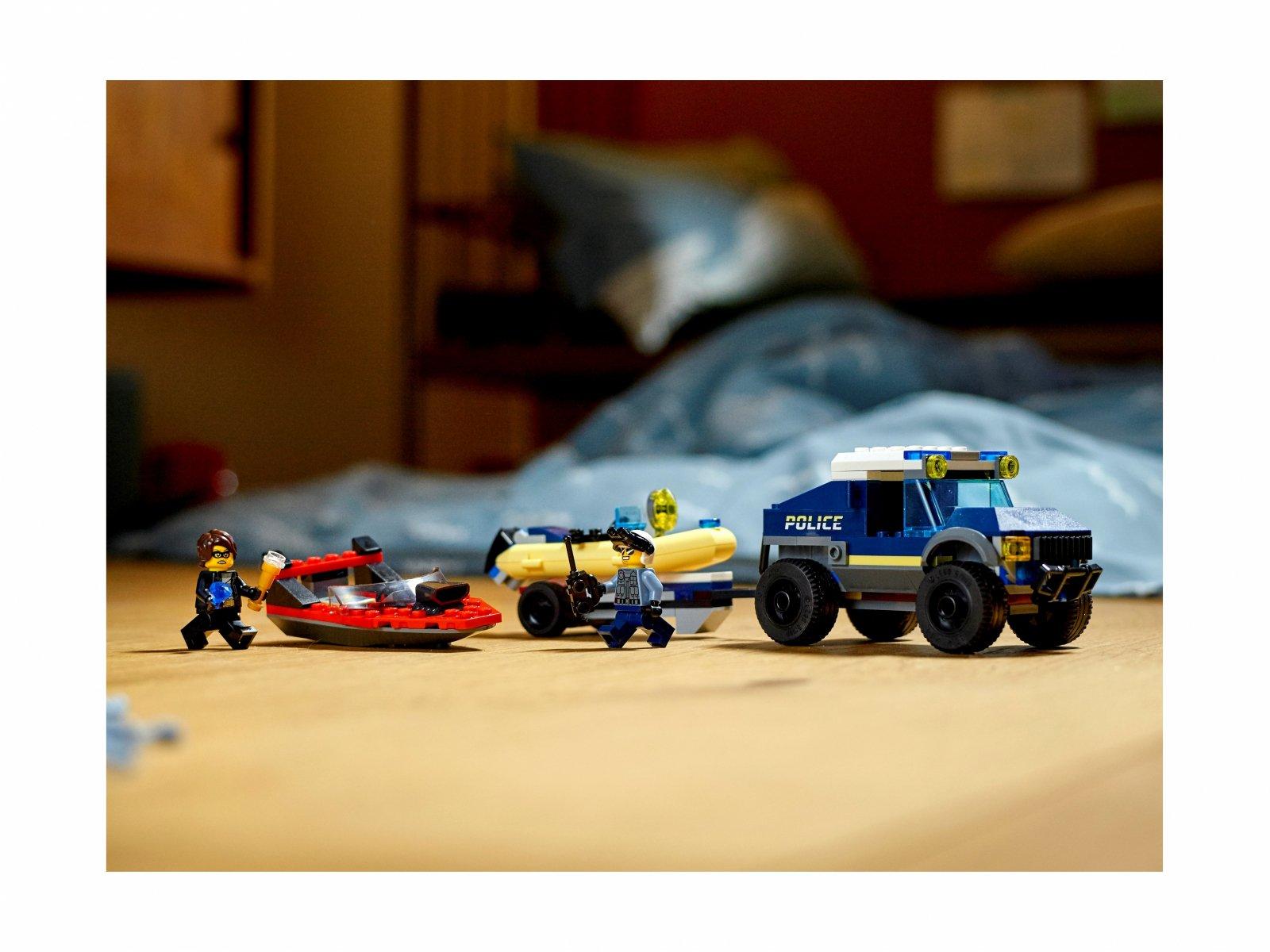 LEGO City Transport łodzi policji specjalnej 60272