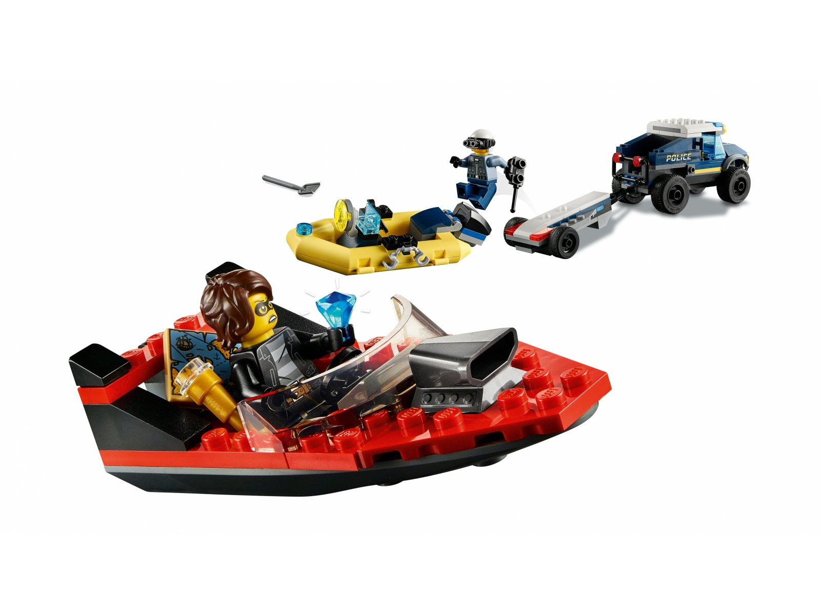 LEGO 60272 City Transport łodzi policji specjalnej