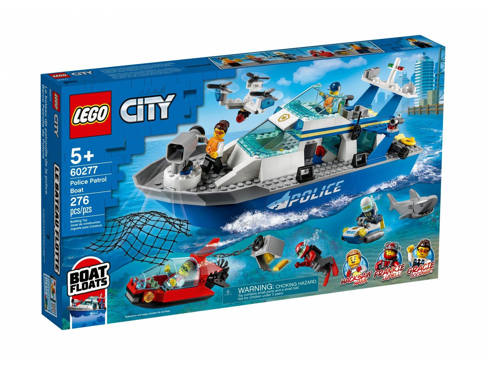 LEGO City Policyjna łódź patrolowa 60277