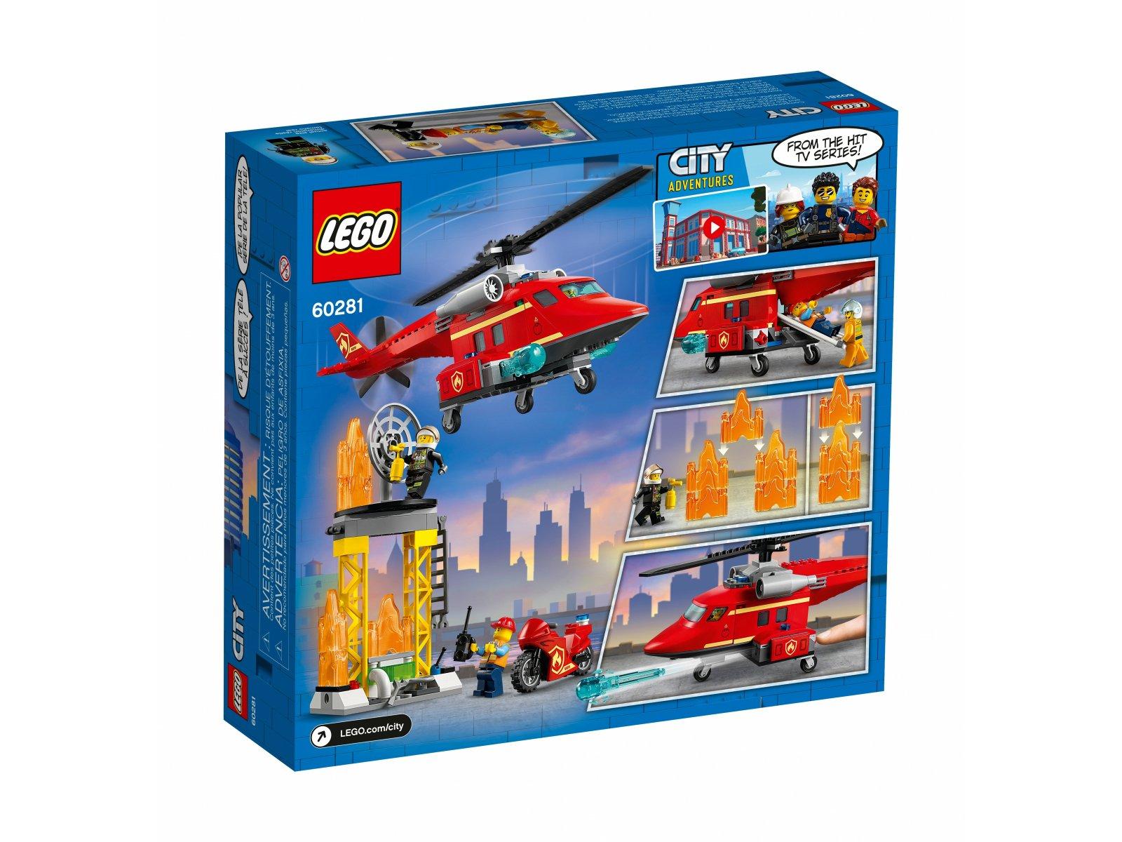 LEGO City Strażacki helikopter ratunkowy 60281
