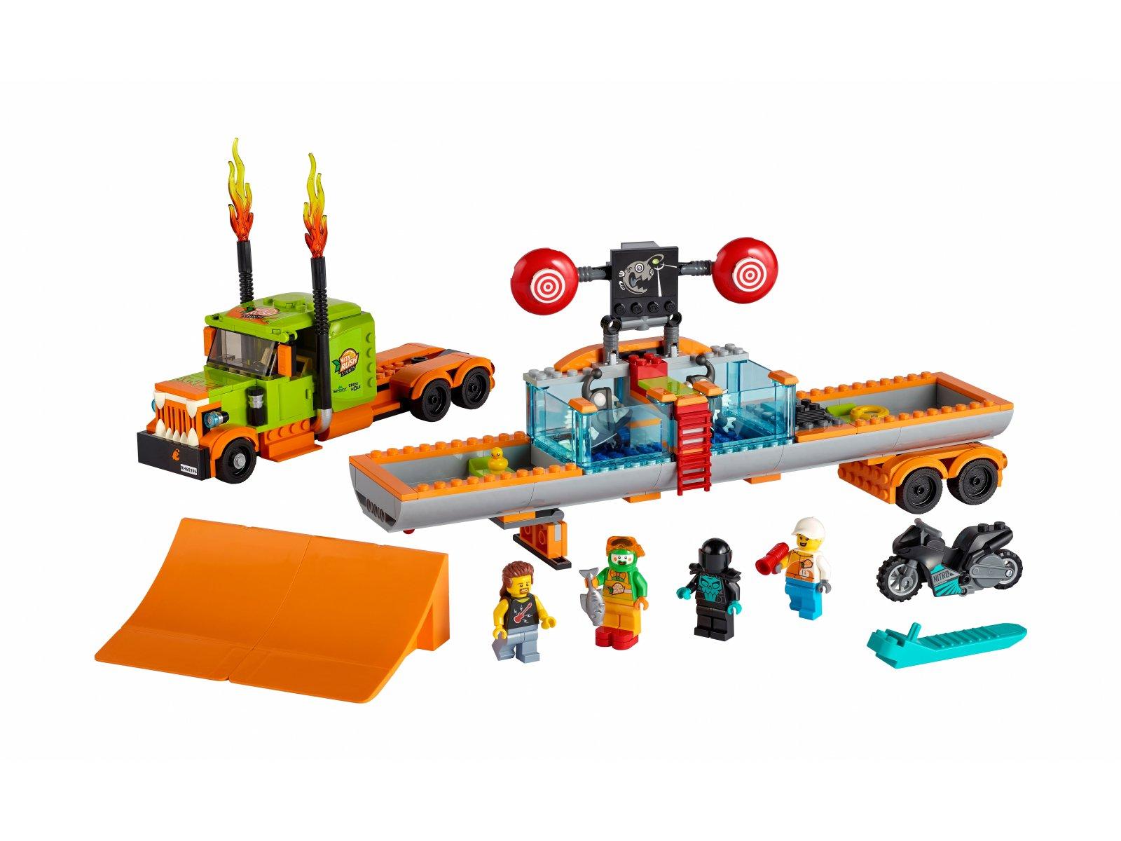 LEGO City 60294 Ciężarówka kaskaderska