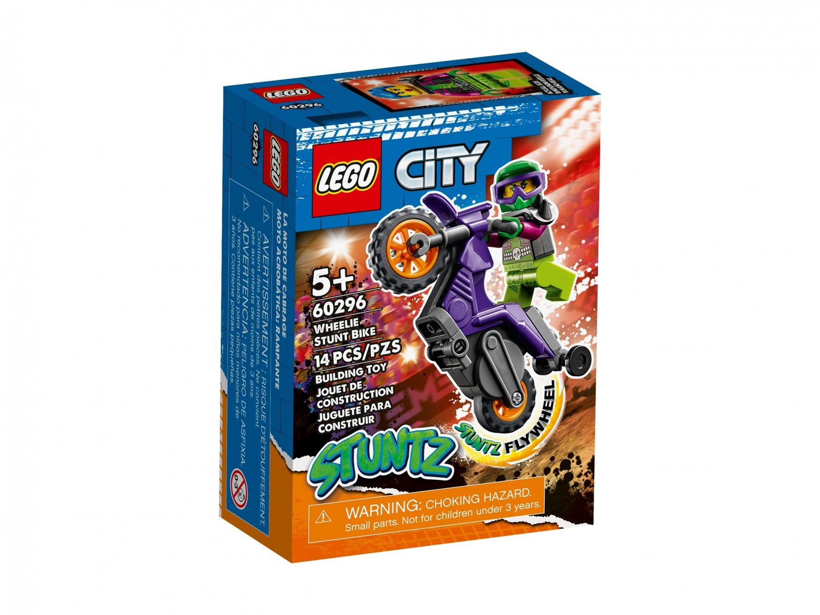 LEGO 60296 Wheelie na motocyklu kaskaderskim