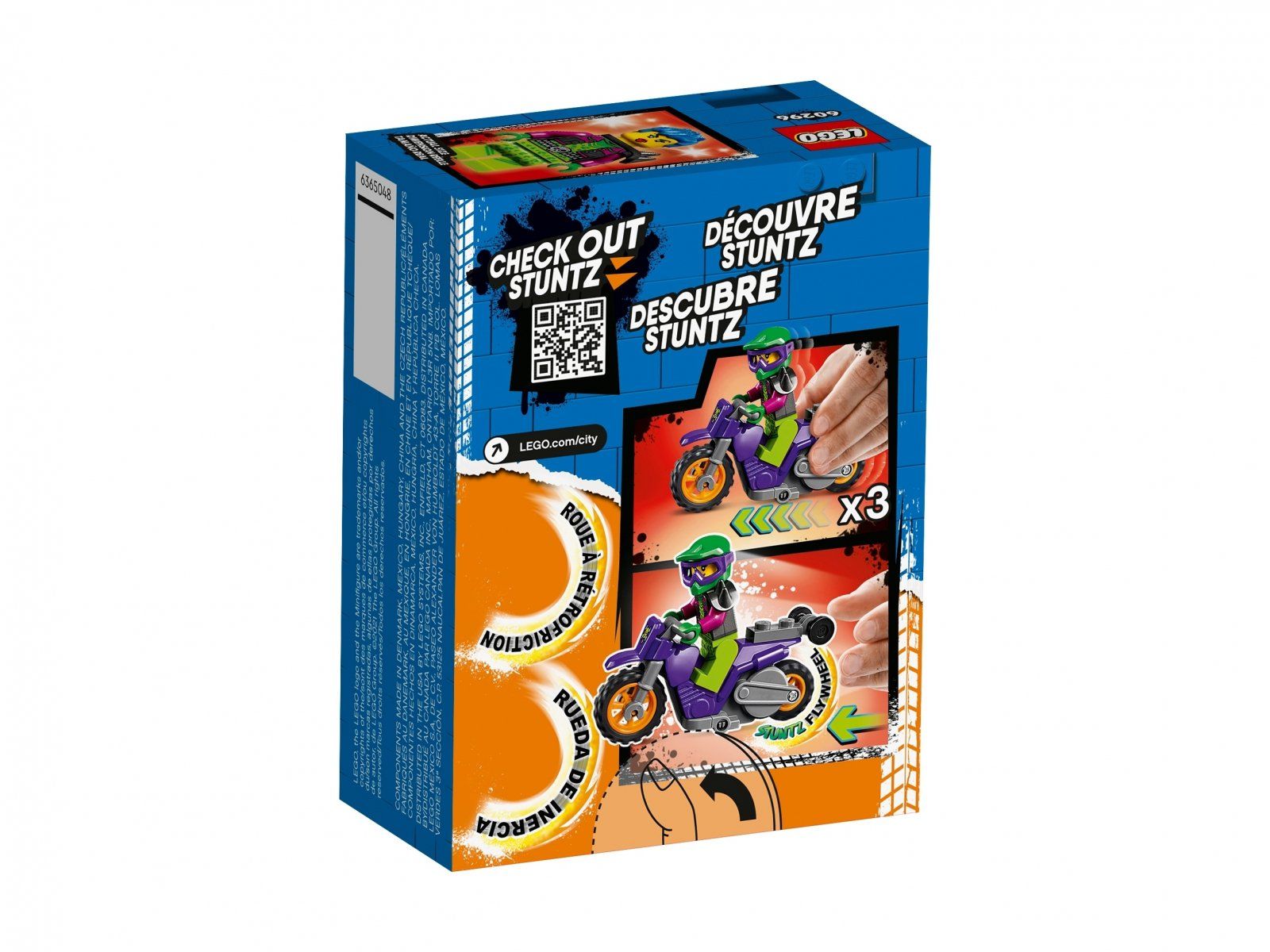 LEGO 60296 City Wheelie na motocyklu kaskaderskim