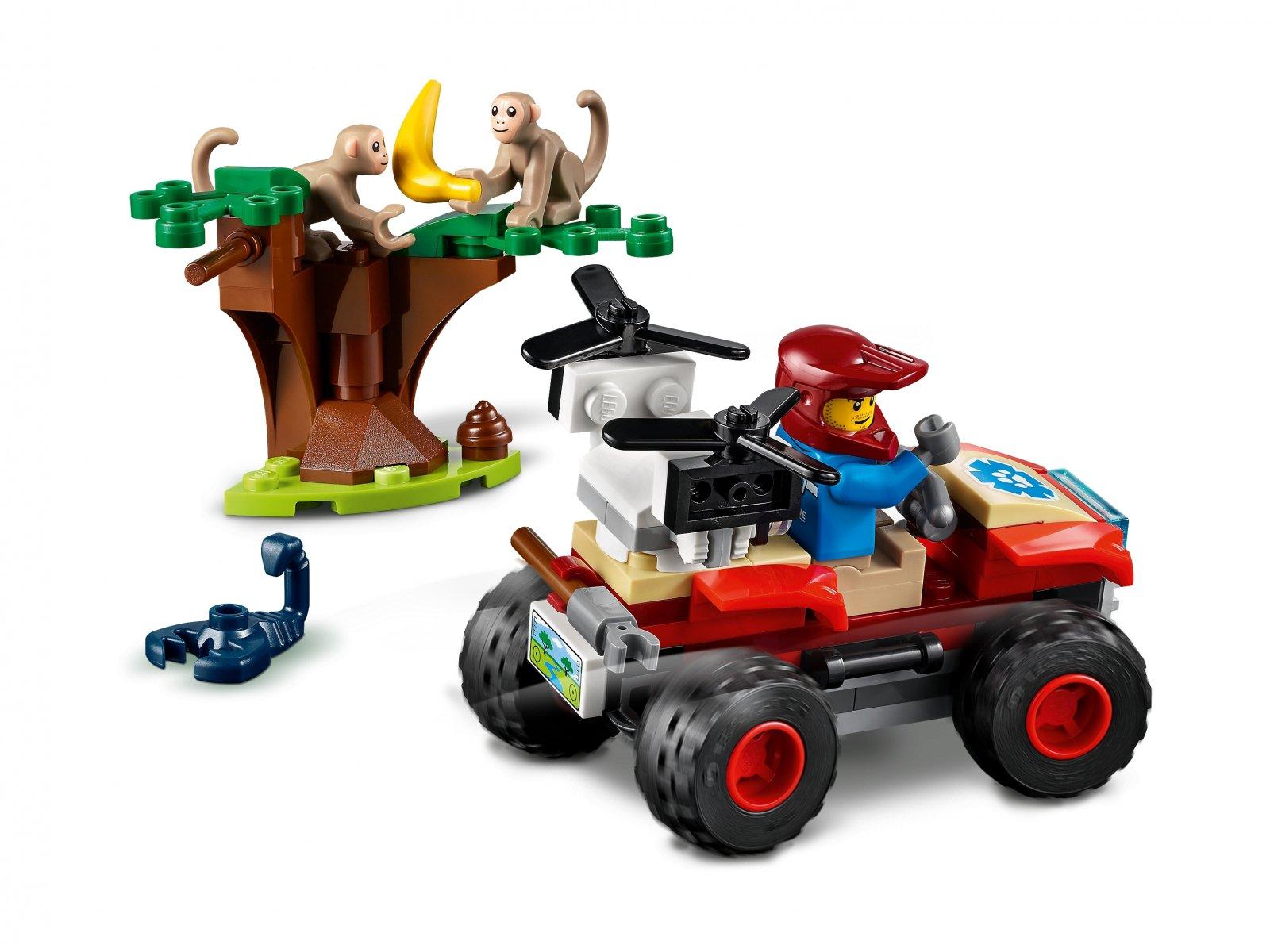 LEGO City Quad ratowników dzikich zwierząt 60300