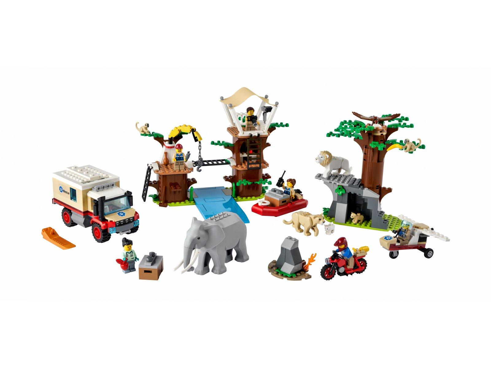 LEGO 60307 Obóz ratowników dzikich zwierząt