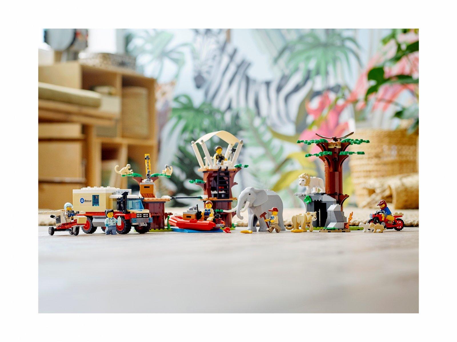 LEGO 60307 City Obóz ratowników dzikich zwierząt