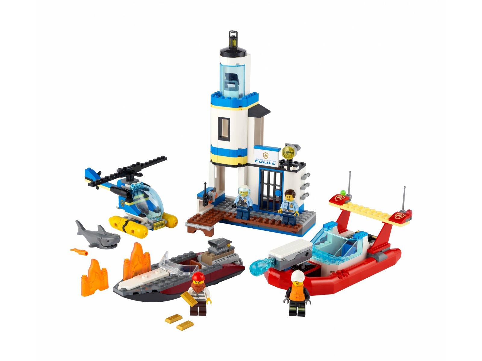 LEGO City Akcja nadmorskiej policji i strażaków 60308