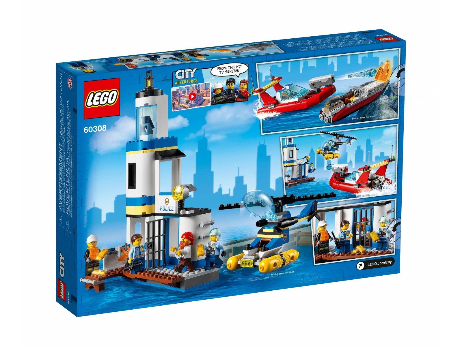 LEGO 60308 Akcja nadmorskiej policji i strażaków