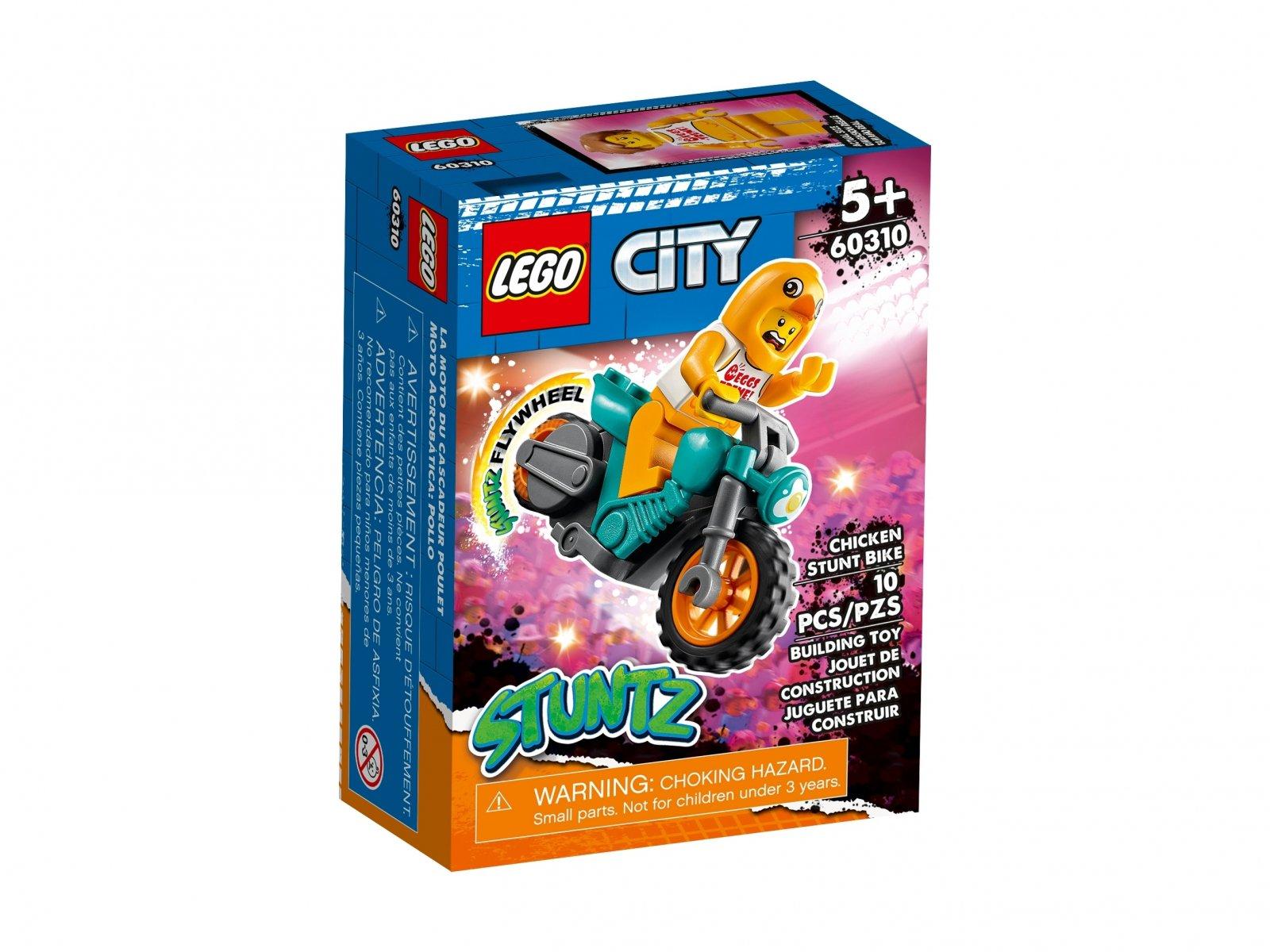 LEGO 60310 Motocykl kaskaderski z kurczakiem