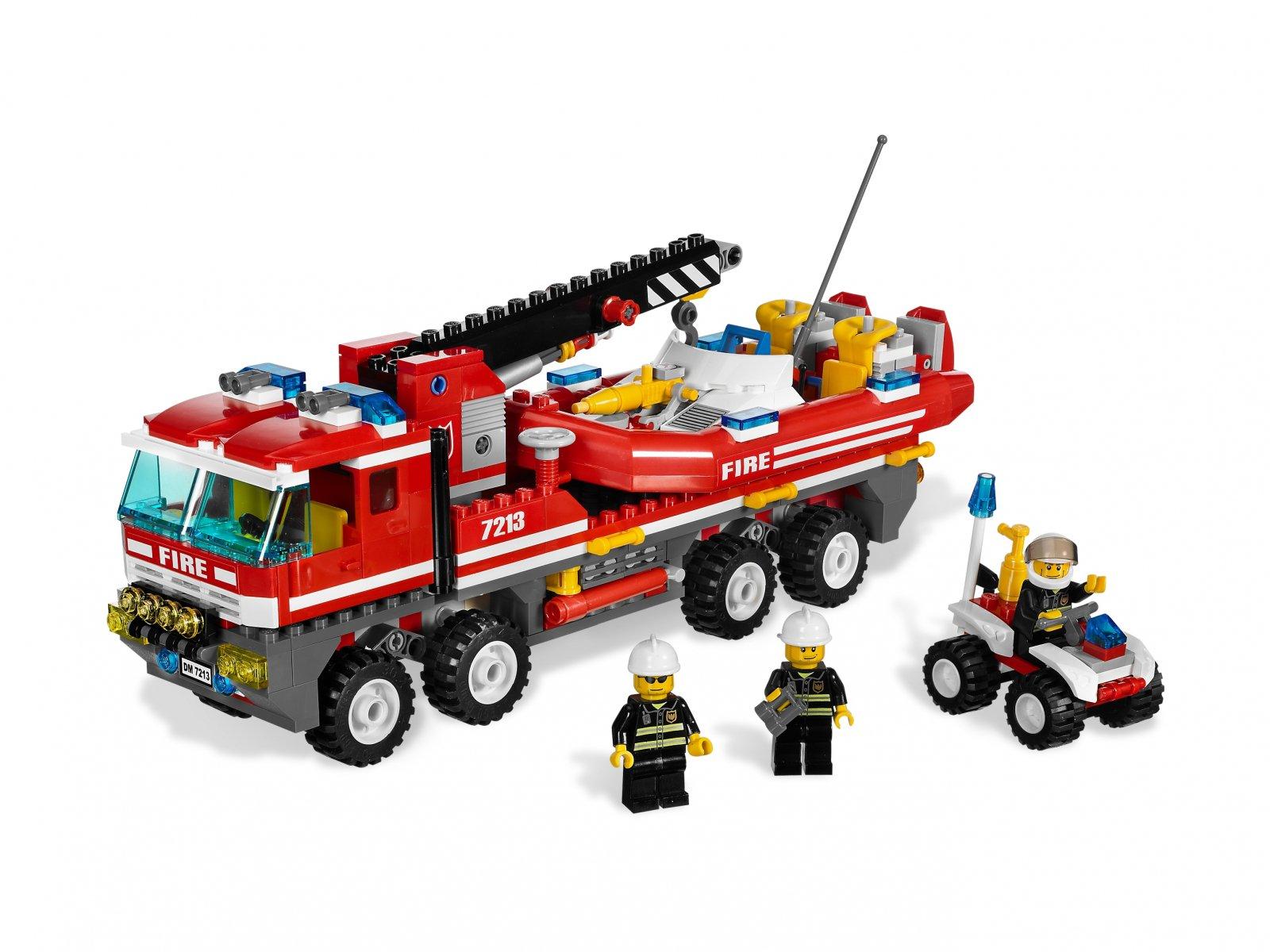 LEGO City 7213 Off-Road Fire Truck & Fireboat