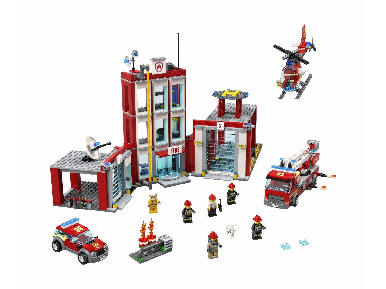 LEGO City 77944 Remiza strażacka — kwatera główna
