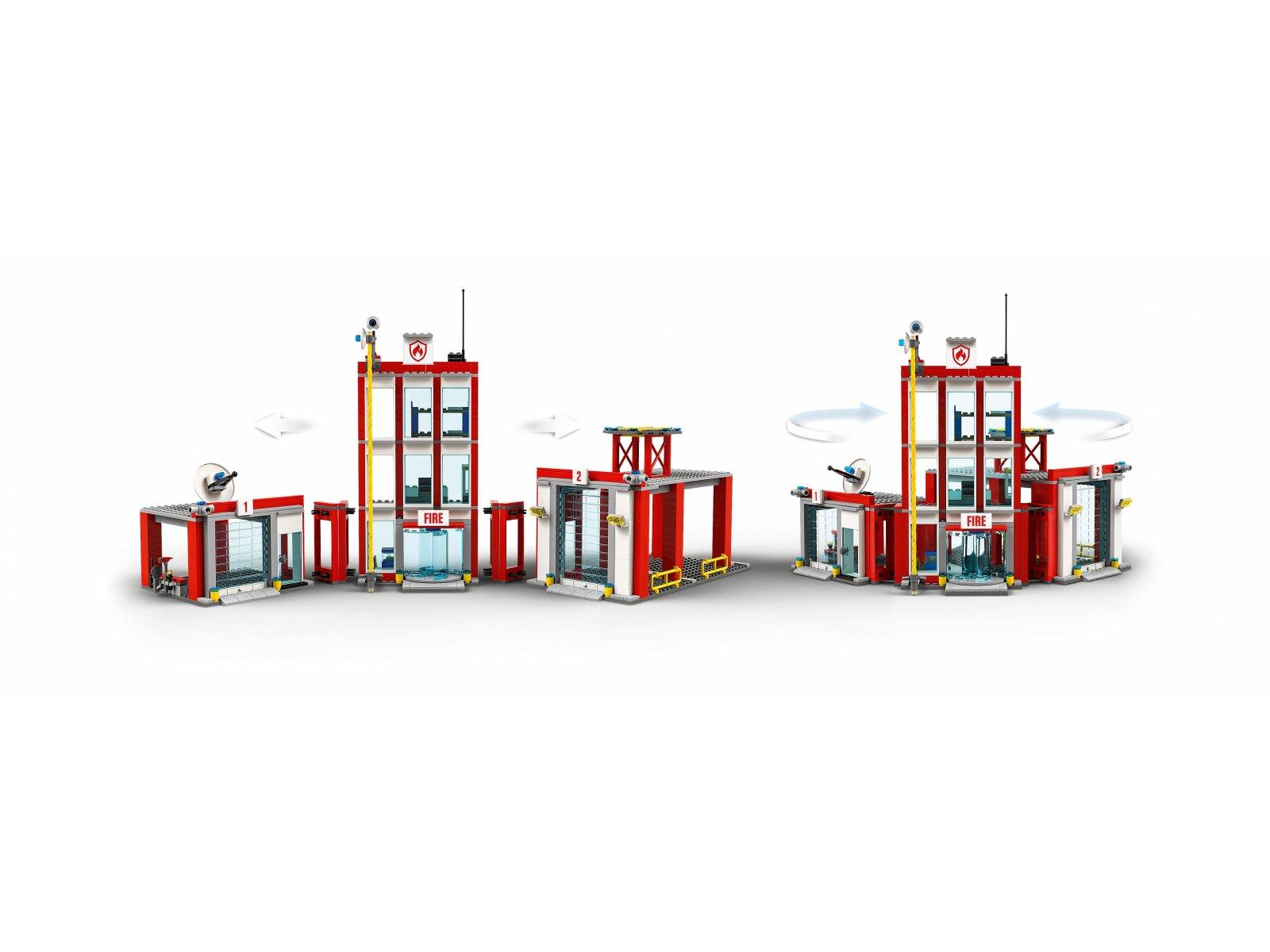 LEGO 77944 Remiza strażacka — kwatera główna
