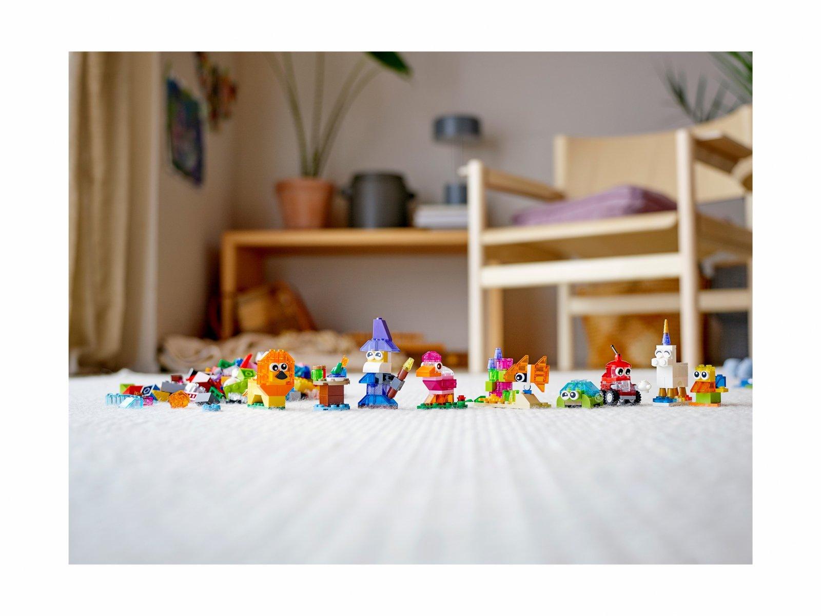 LEGO 11013 Classic Kreatywne przezroczyste klocki