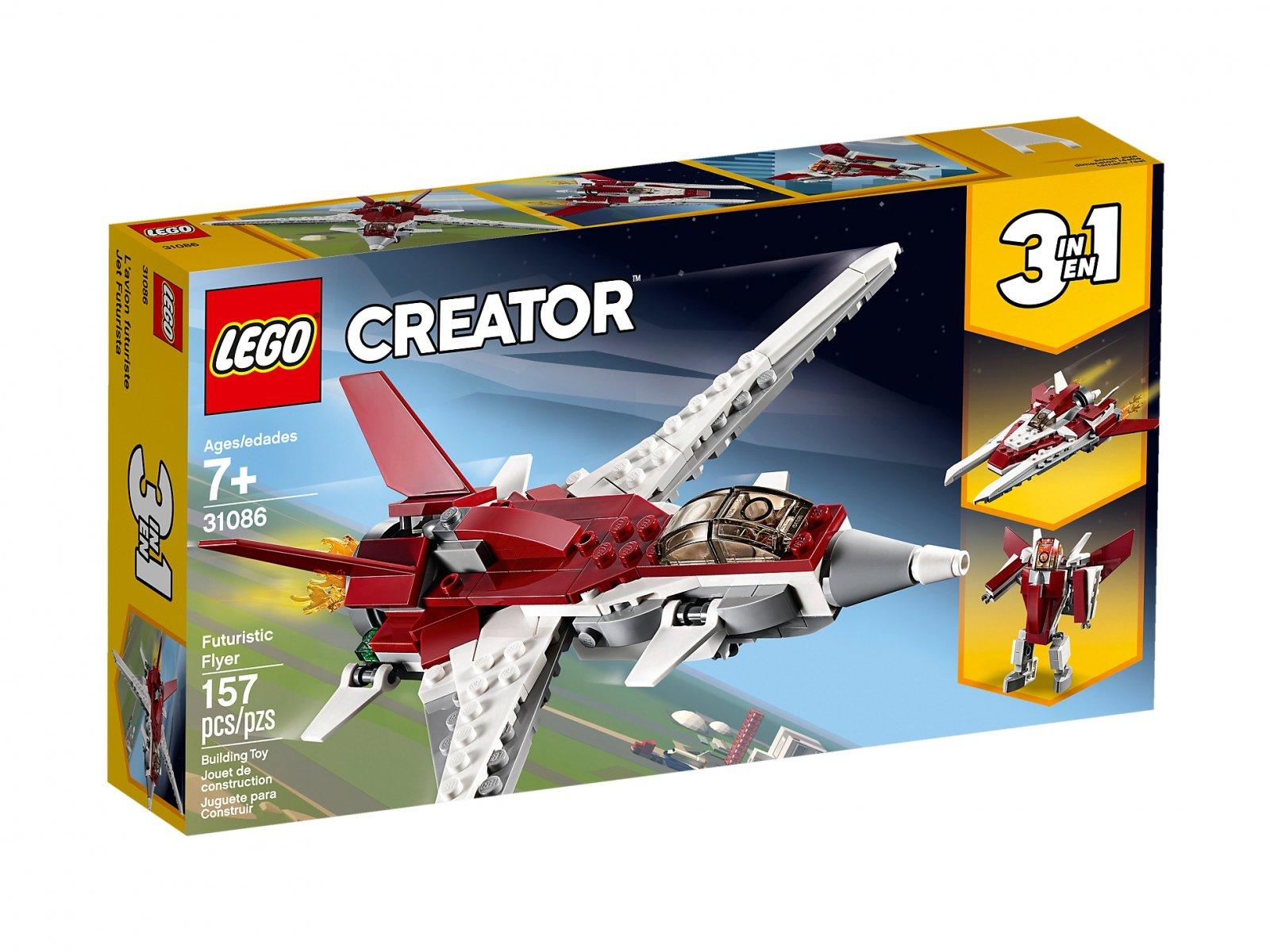 LEGO Creator 3 w 1 Futurystyczny samolot 31086