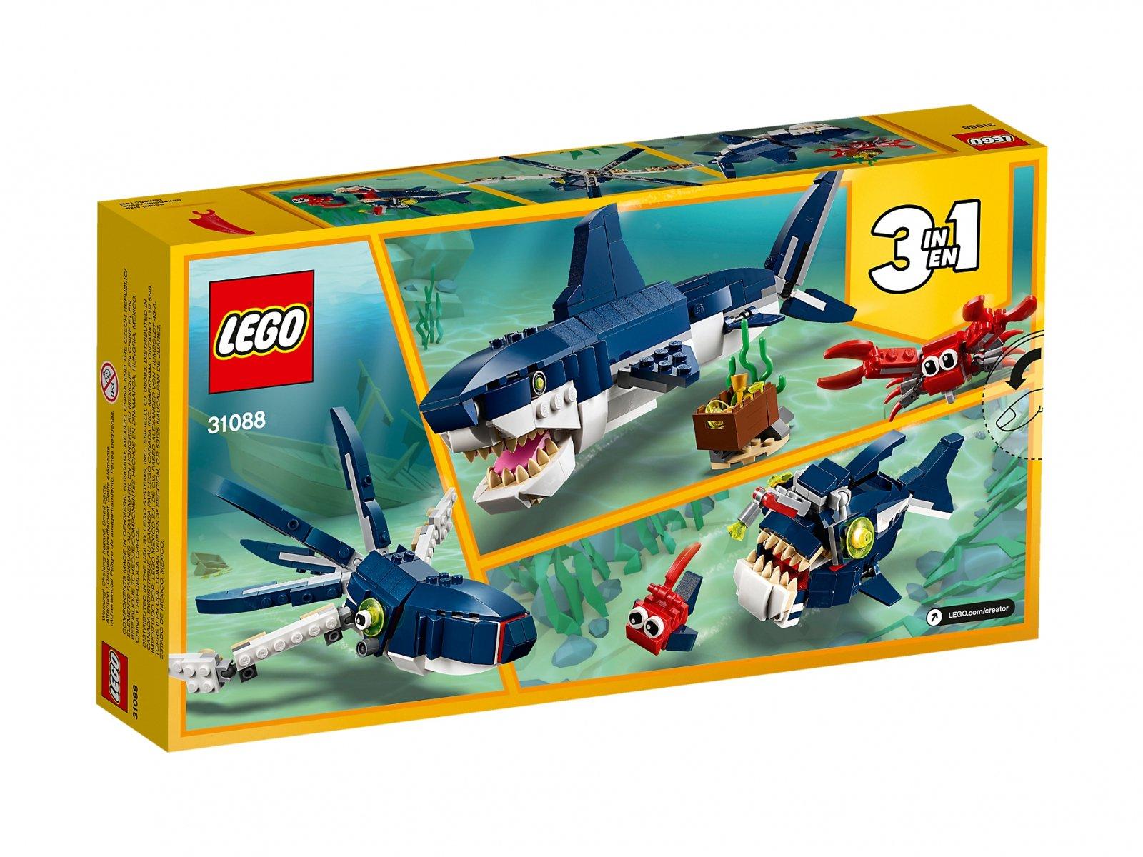 LEGO Creator 3 w 1 31088 Morskie stworzenia