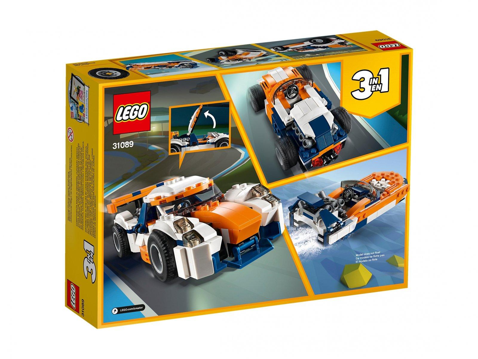 LEGO 31089 Creator 3 w 1 Słoneczna wyścigówka